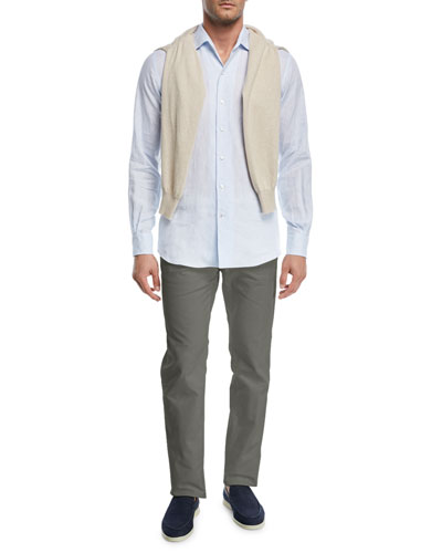 Comfort Slim-Stretch Cotton Trousers and Matching Items