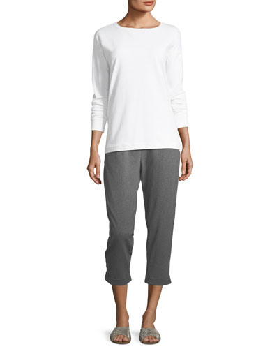 Stretch Jersey Sweatshirt Top, Petite   and Matching Items