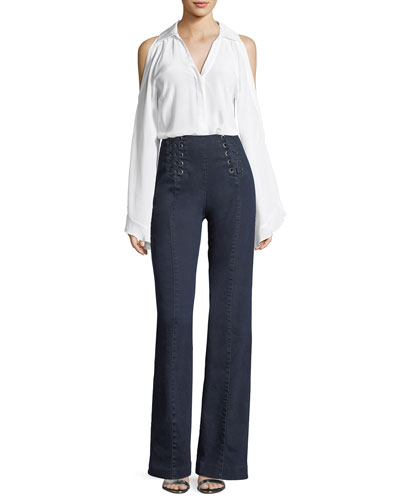 Te Amo Lace-Up Bootcut Jeans and Matching Items
