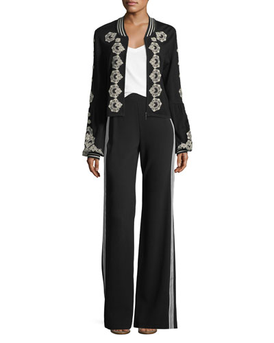 Bonita Side-Stripe Back-Zip Pants and Matching Items