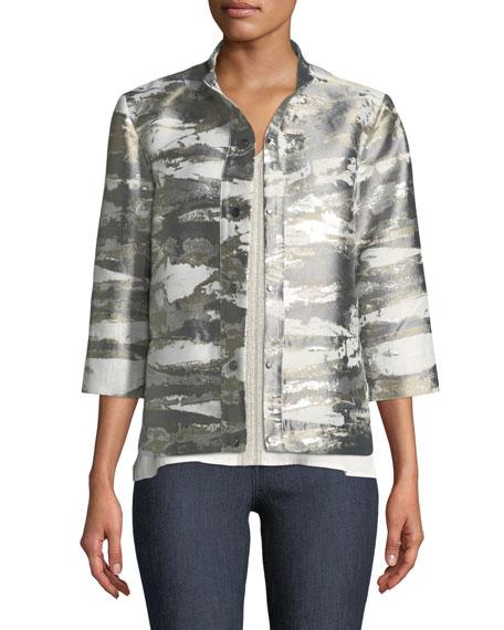 Graphic Metallic Short Jacket