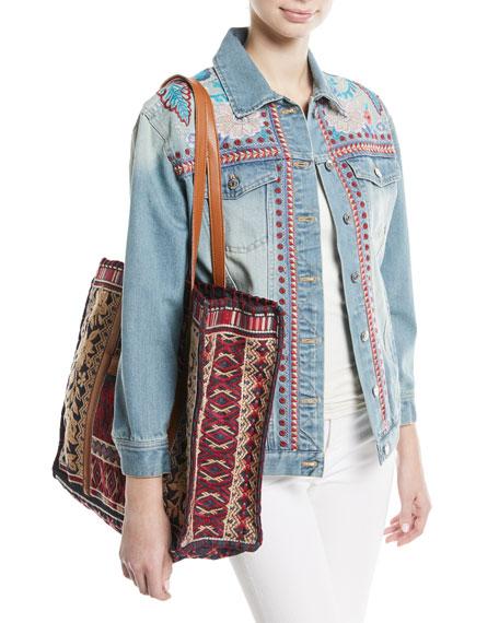 Oman Embroidered Denim Jacket