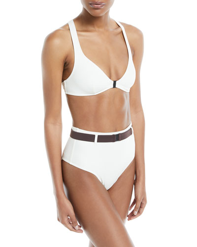 Josephine Cross-Back Solid Swim Top and Matching Items