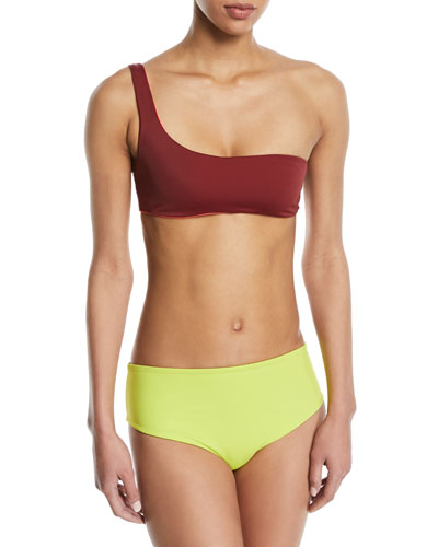 Isabeli One-Shoulder Reversible Swim Top and Matching Items