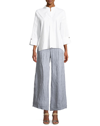 Moa High-Low Poplin Blouse and Matching Items