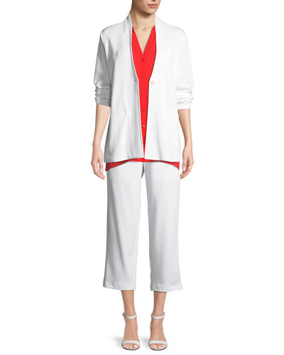 Tencel Ponte Easy Blazer  and Matching Items, Petite
