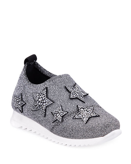 Natalie Sparkle Star Sneaker, Toddler/Youth Sizes 10T-1Y
