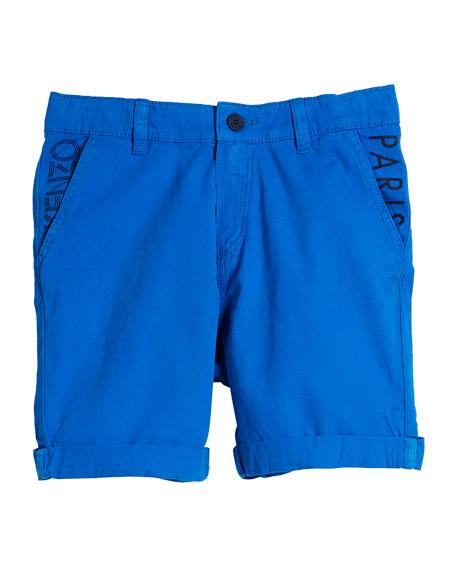 Chino Shorts w/ Logo Pockets, Size 4-6