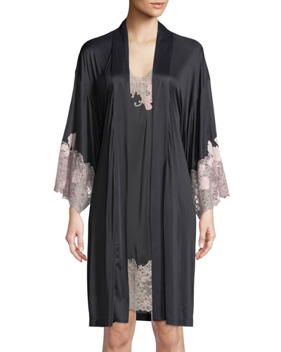 Harlow Lace-Trim Jersey Robe and Matching Items