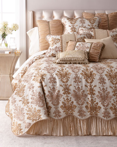 Isadora Embroidered Damask Queen Duvet  and Matching Items