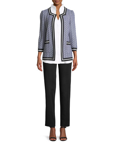 3/4-Sleeve Textured Jacket  and Matching Items