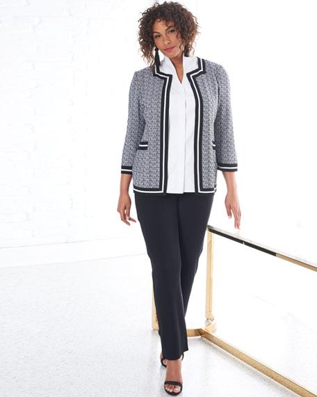 Misook Plus Size Sleeveless Stretch-Cotton Shirt