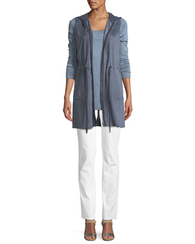 Salma Lush Suede Vest with Knit Back and Matching Items
