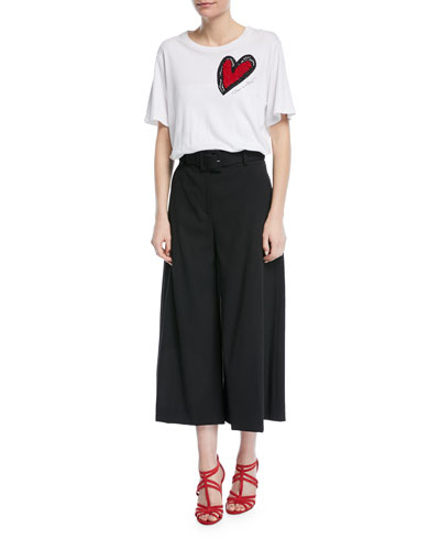 Heart Embroidered T-Shirt and Matching Items