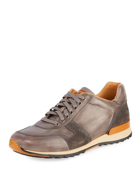 Men's Retro Leather Running Sneakers