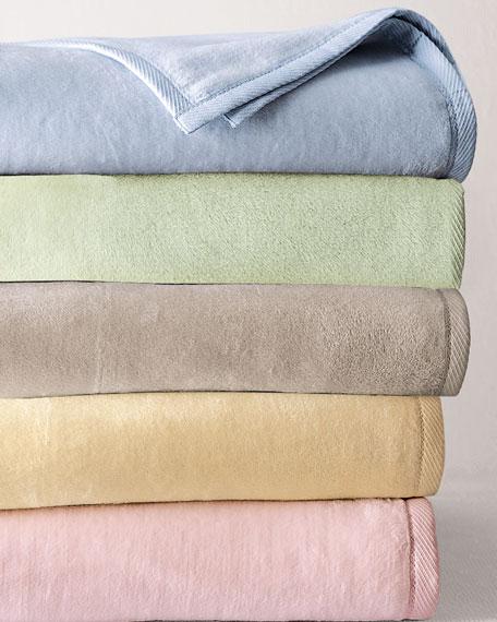 SFERRA King Plush Combed Cotton Blanket