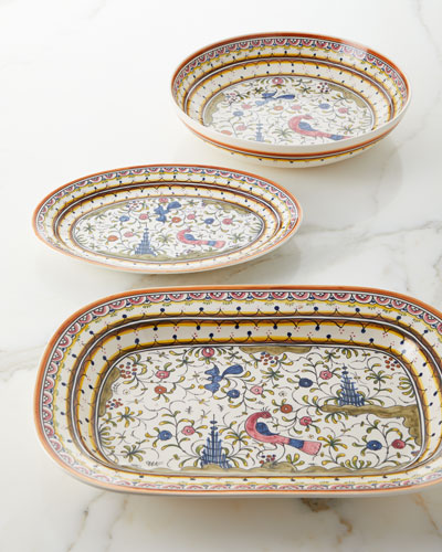 Pavoes Oval Platter and Matching Items
