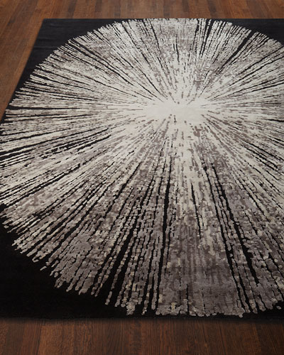 Cosmopolitan Noir Hand-Knotted Rug, 8' x 10'  and Matching Items