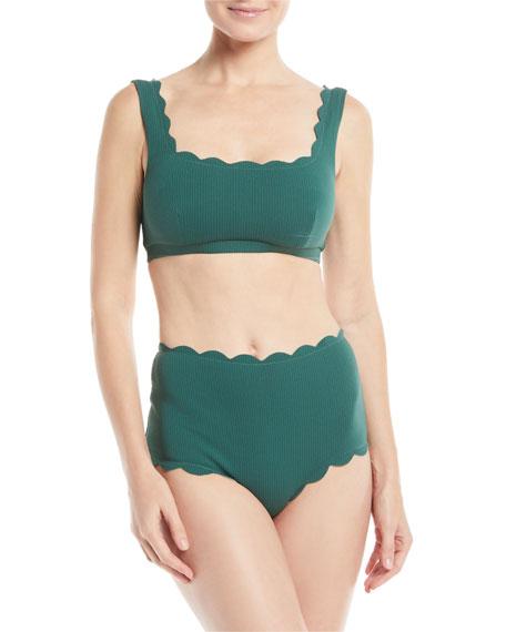 Marysia Palm Springs Scalloped Swim Top