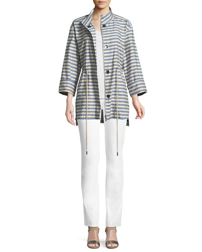 Jayna Vitality-Stripes Zip-Front Jacket and Matching Items