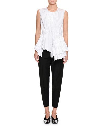 Crewneck Sleeveless Cotton Poplin Top and Matching Items