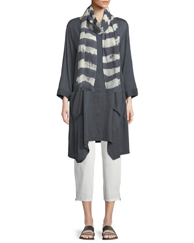 Adele Brushed Striped Scarf  and Matching Items