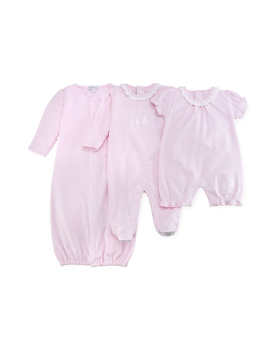 Pique Bunny Ears Convertible Pima Sleep Gown, Pink, Size Newborn-Small and Matching Items