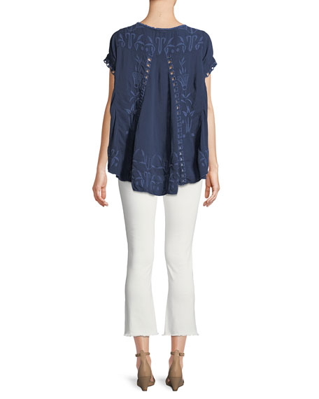 Melrose Scoop-Neck High-Low Top, Plus Size