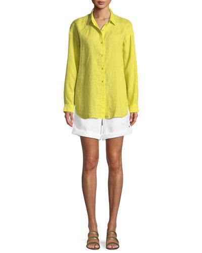 Organic Linen Boyfriend Shirt and Matching Items
