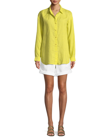 Organic Linen Boyfriend Shirt