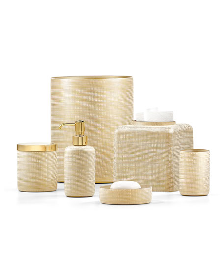 Labrazel Woven Gold Canister - Satin