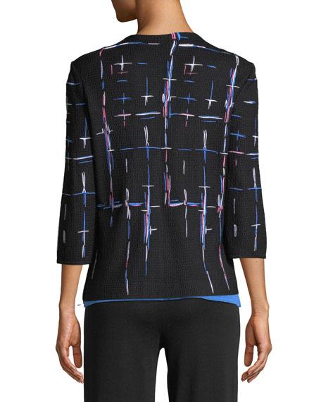Shaded Lines Jacket, Plus Size