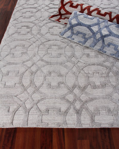 Belmar Circles Hand-Knotted Rug, 9' x 12' and Matching Items