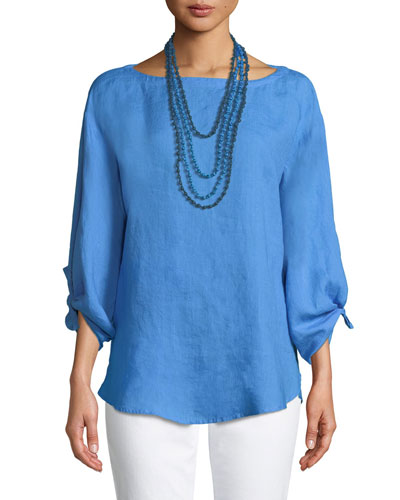 Tie-Sleeve Linen Top and Matching Items