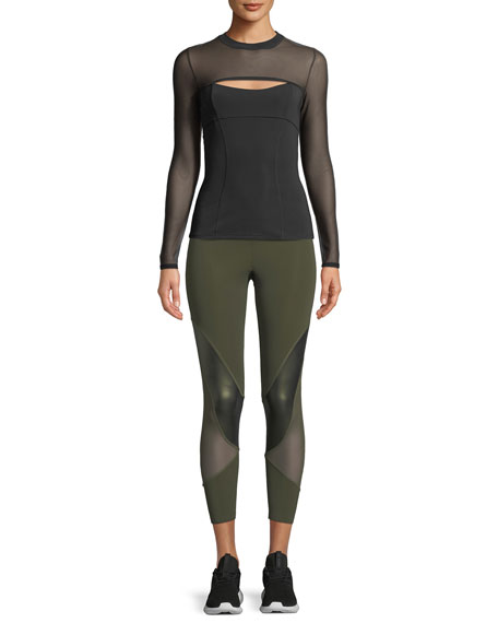 Dominique Cutout-Front Neoprene Top