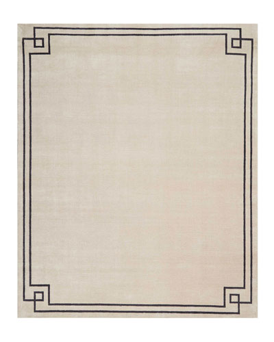 Finesse Mediterranean Sand Hand-Knotted Rug  8' x 10' and Matching Items