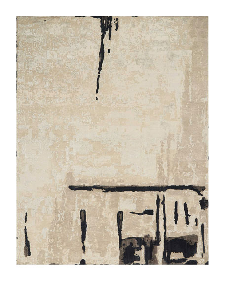 Christopher Guy Abstrait Sea Sand Hand-Knotted Rug, 10' x 14'
