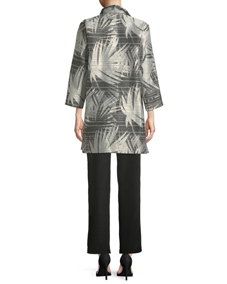 Shimmering Palms Shirt Jacket, Petite