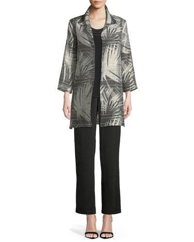 Shimmering Palms Shirt Jacket, Petite   and Matching Items