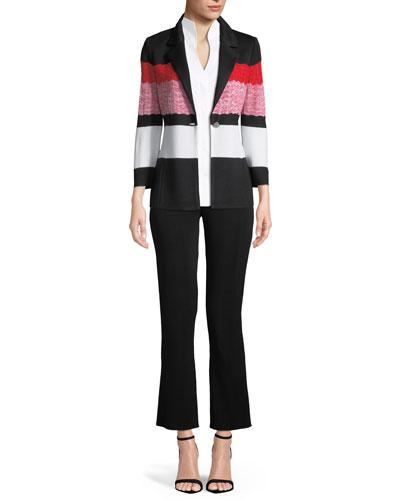 Sleeveless Stretch-Cotton Shirt, Plus Size and Matching Items