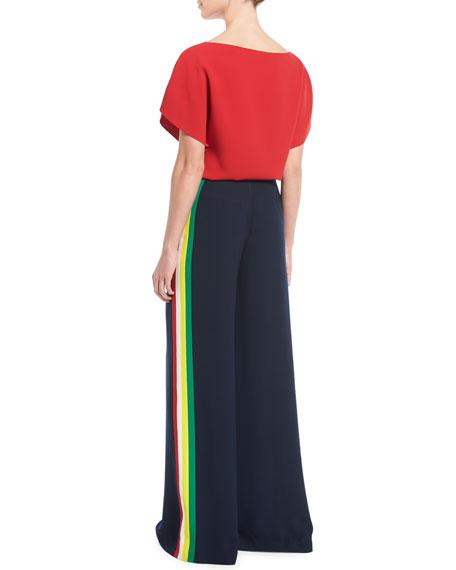 Corinna Round-Neck Short-Sleeve Top