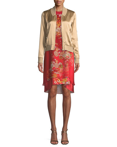 Brandy Satin Jacket and Matching Items