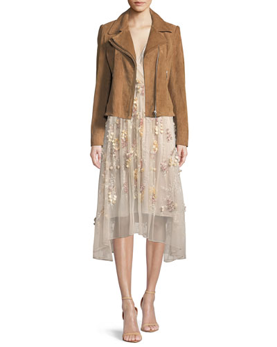 Angalie Suede Moto Jacket and Matching Items