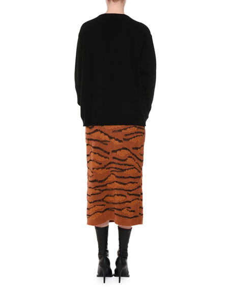 Oversize Lion Intarsia Sweater
