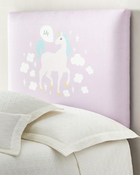 Unicorn Twin Headboard, Personalized