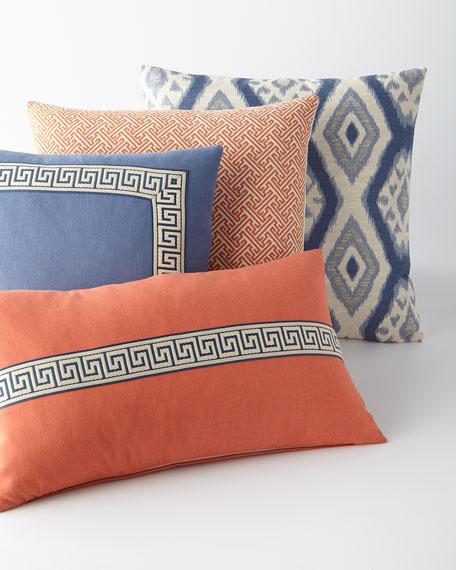 "Breeze Greek Key Pillow, 15"" x 26"""