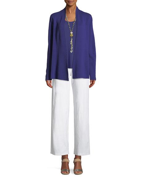 Silk-Blend Interlock Open-Front Jacket
