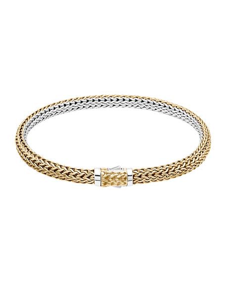 Classic Chain Medium Reversible Silver & Gold Bracelet