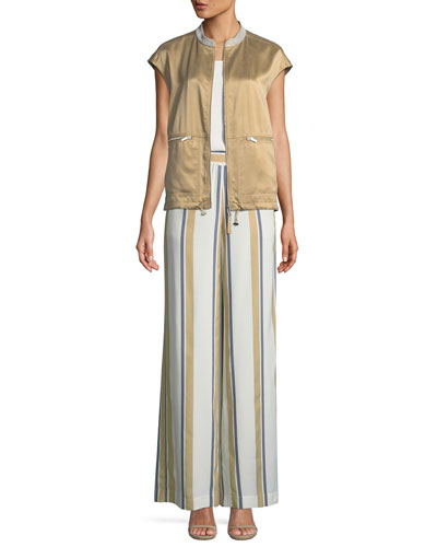 Tonya Artistry Silk Vest with Chain Detail and Matching Items