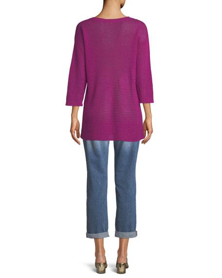 Organic Linen 3/4-Sleeve Easy Tunic